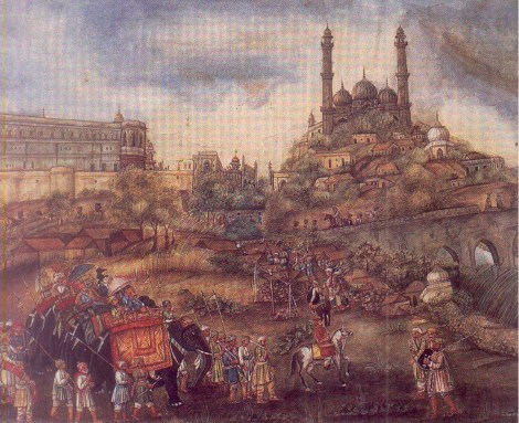 An Artists Impression of the Old City of Lucknow