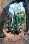 Dark caverns shaped by nature