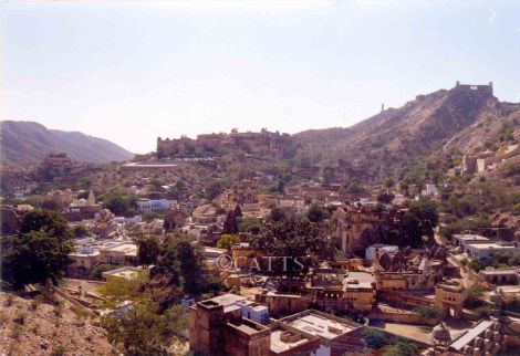 View of the settlement on the Aravalli foothills