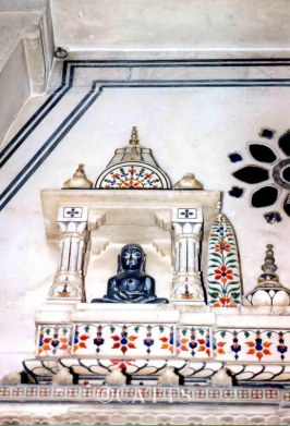 Intricate inlay work in Jain Temple